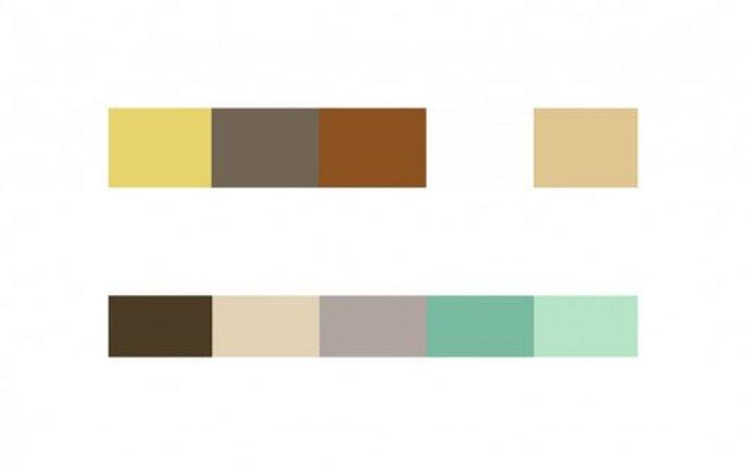 Combinaciones con colores terrosos