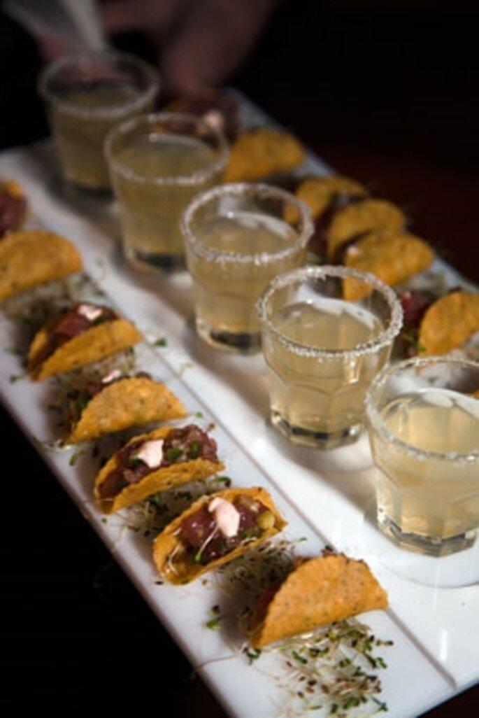 Comida tradicional Mexicana gourmet para una boda en 2013 - Foto Colin Cowie Weddings Facebook