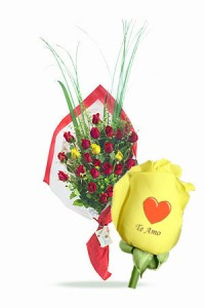 Rosas personalizadas de rosasquehablan.com