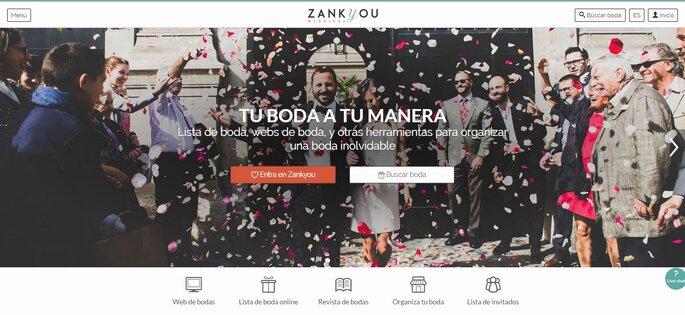 Home de la nueva web Zankyou