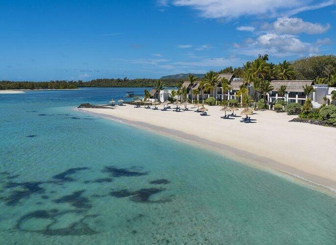 Praia paradisíaca nas Ilhas Mauritius