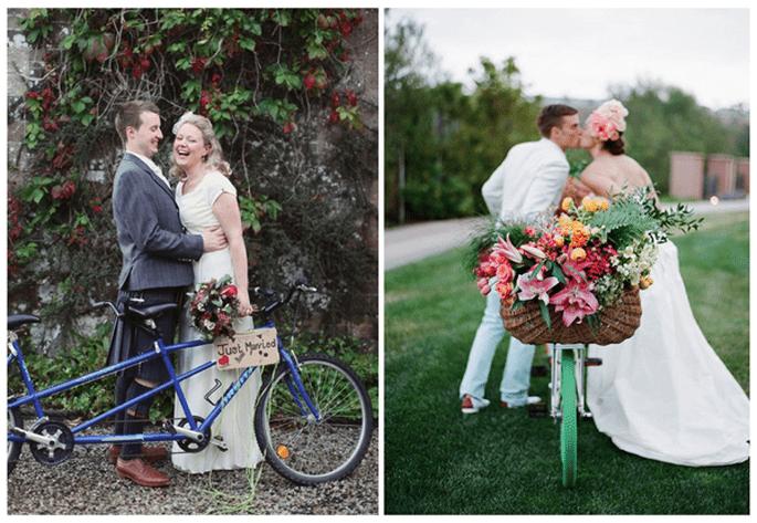 Fotos de boda con bicicletas - Foto Craig & Eva Sanders Photography y Jose Villa