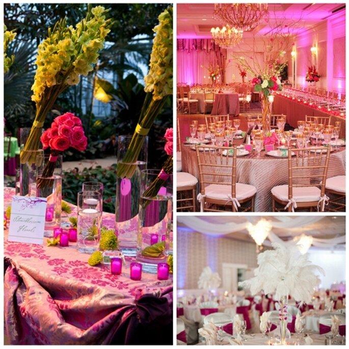 Hochzeitsdekoration in Rosa - Foto: Jeff Sampson/Rental Unlimiteds