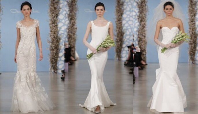 Vestidos de novia para boda civil o segundas nupcias - Foto Oscar de la Renta