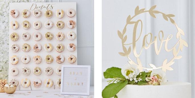 Estante de bodas maxi donuts bodas de oro