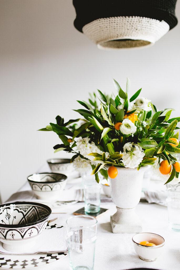 Centrotavola matrimonio con piante