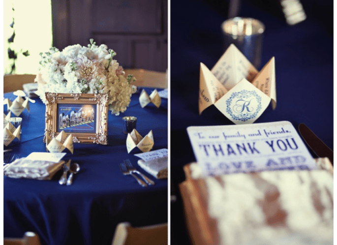 #MartesDeBodas: Decoración de boda en color azul marino - Foto Focus Photography