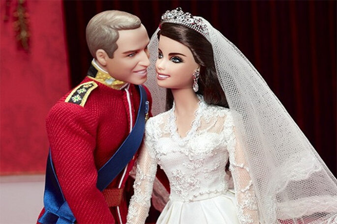 Muñecos Barbie de la boda de Kate y Williams. Foto: Barbie Collector