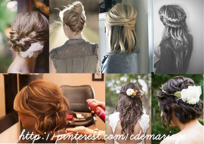 En fonction de votre robe de mariée, choisissez votre coiffure