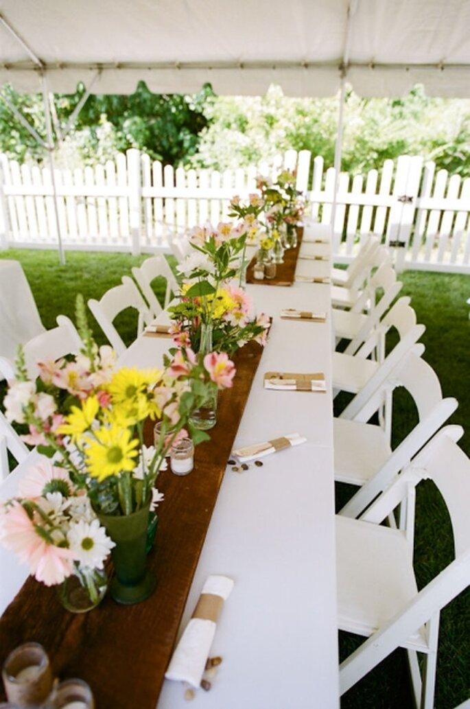 Hacer el centro de mesa para mi boda.