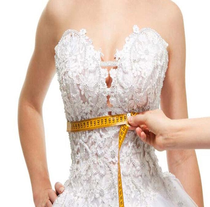 Medidas de cintura de una novia