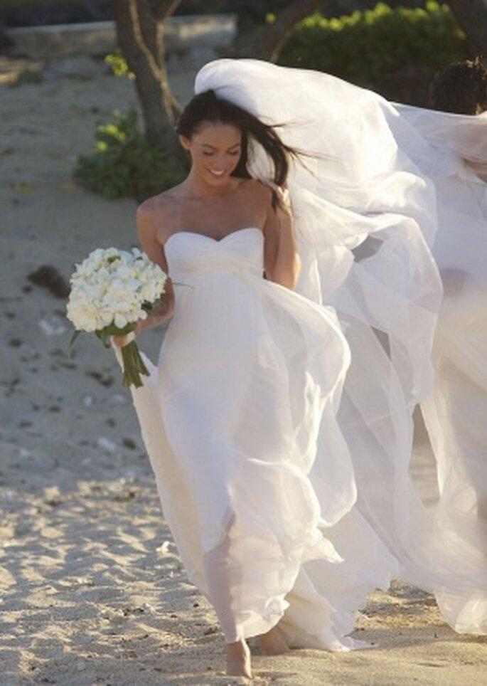 Vestido de novia de Megan Fox