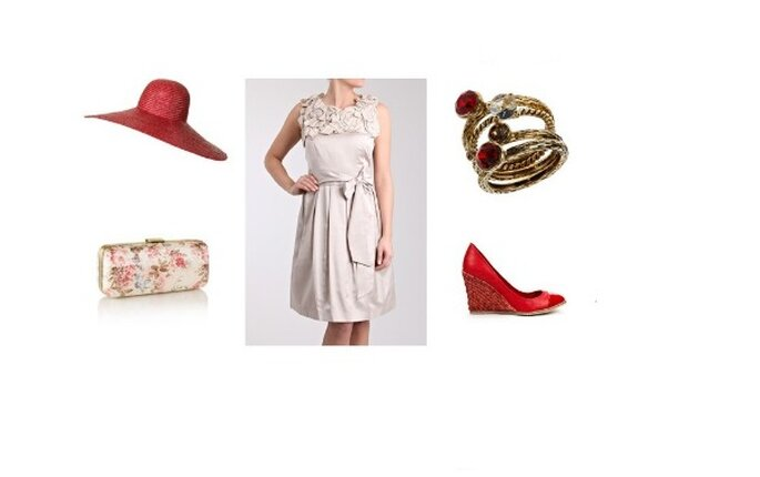 Robe – Coast : chapeau & chaussures – Zara : bracelet – Topshop : sac - Monsoon
