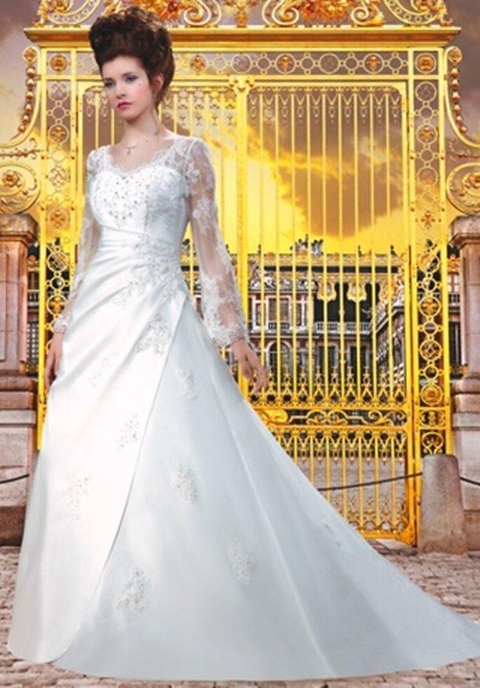 Hochzeitskleid mit Ballonärmeln - Model col_124-25_A von Collector