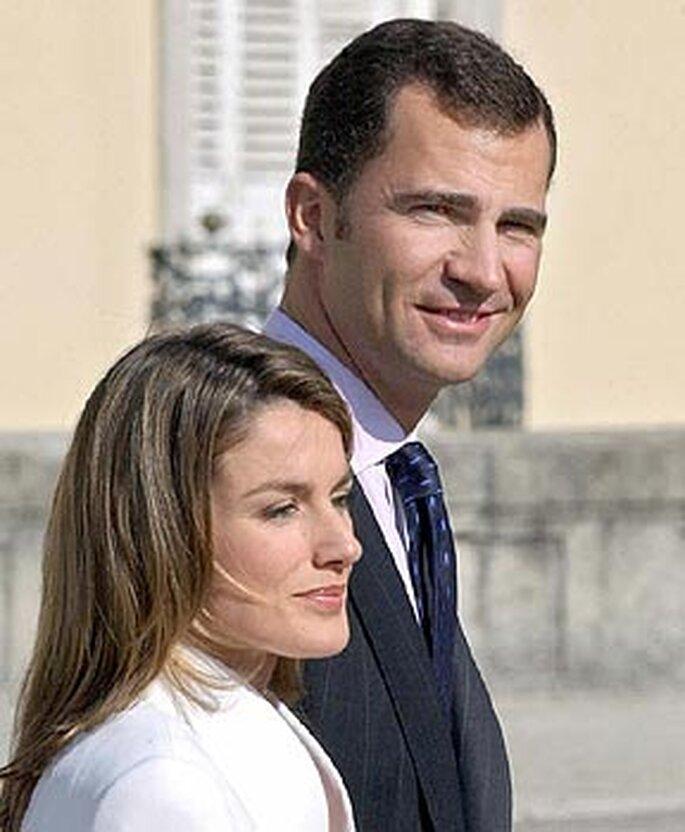 El dia del anuncio del compromiso entre Letizia y Felipe de Borbon