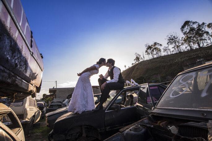 Fotos com a cara dos noivos
