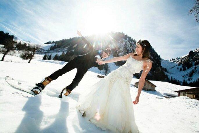 Mariage en hiver : original et romantique - Photo : Mars et Venus MARIAGES