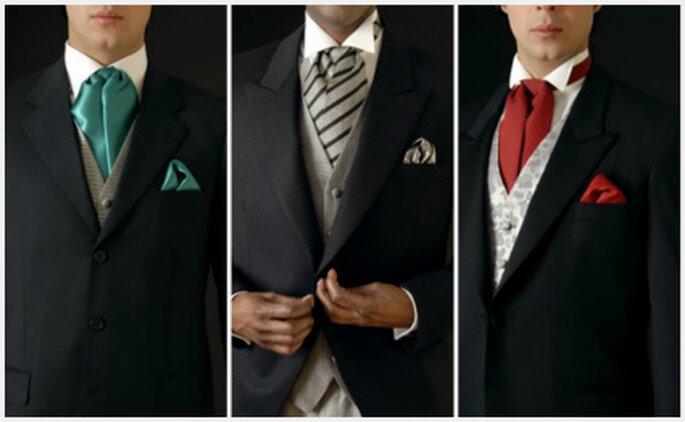Propuesta colorida de corbatas de novio de Rubinstein