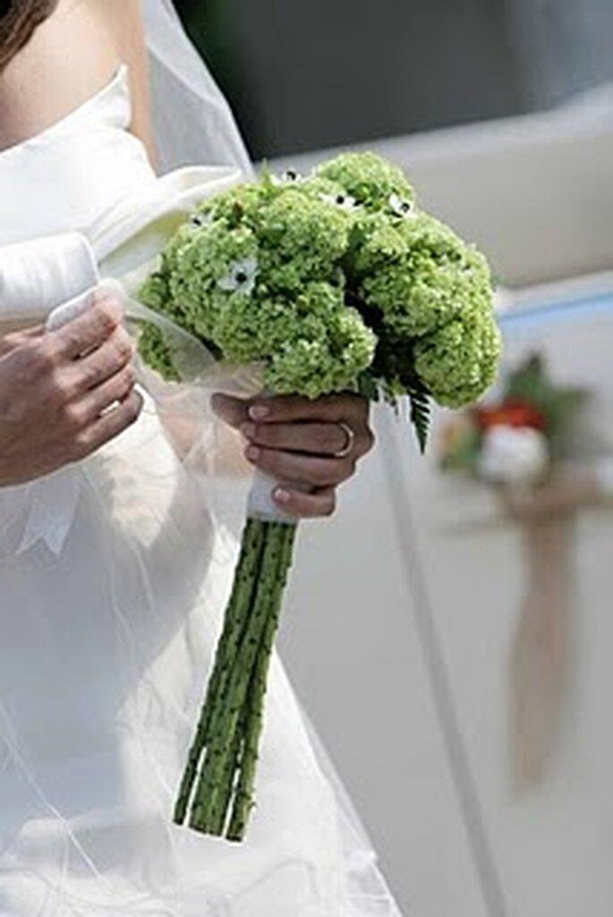 Lindo ramo verde de novia. Foto de Sandua y Sorli