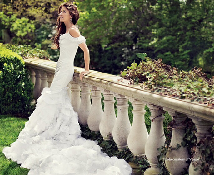 Dylan Lauren con il suo vestito da sposa. Foto: Vogue América
