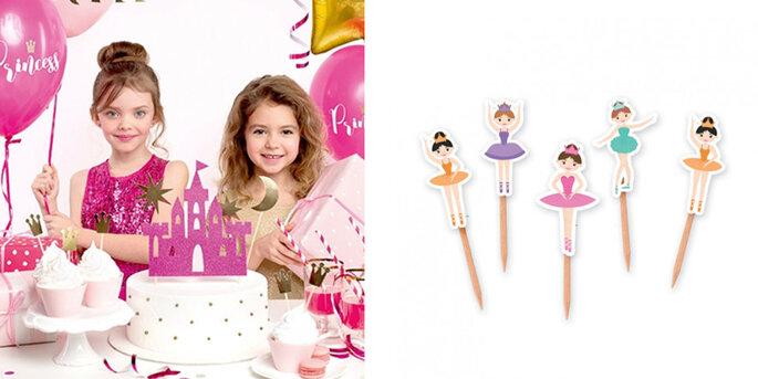 Figura tarta castillo de las princesa 4 unidades