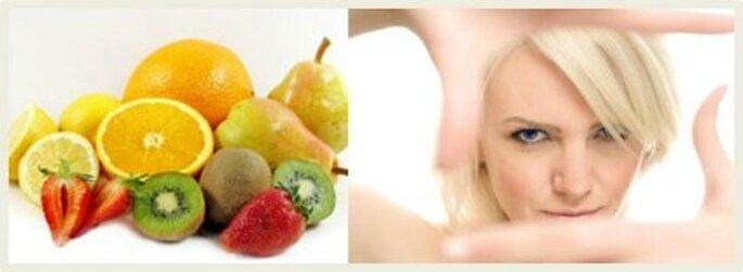 Consuma 4 porciones de frutas 4 de verduras en el día