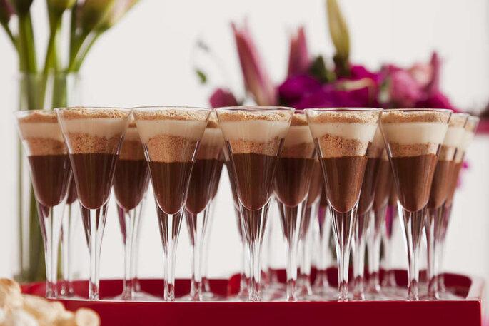 Sobremesa na taça para casamento