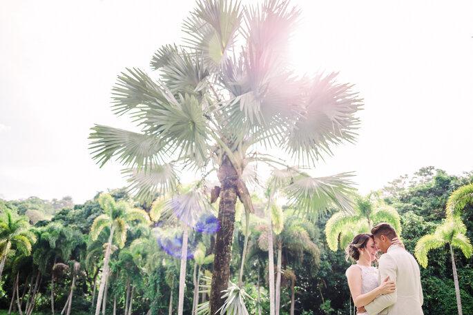 Ensaio dos noivos casamento diurno