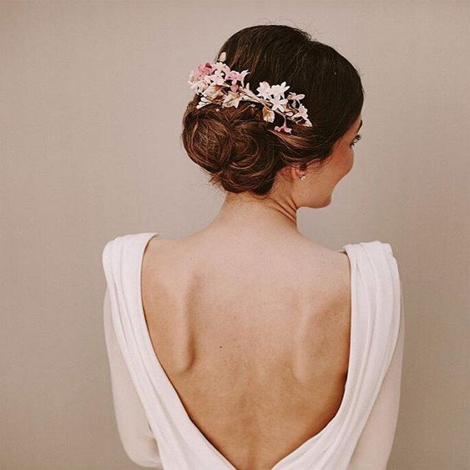 detalles rosa vestidos d novia