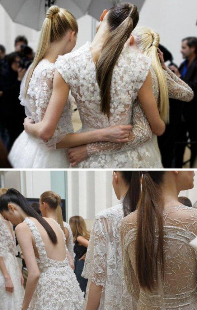 Cola de caballo para el peinado de novia en 2013 - Foto Elie Saab Facebook