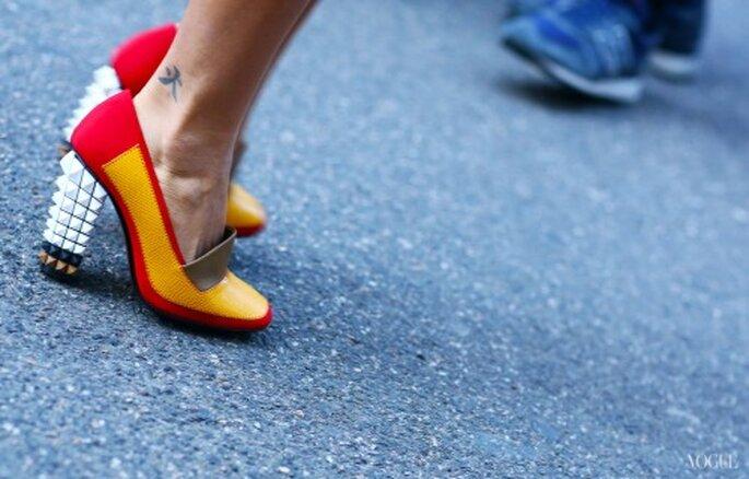 Inspiración en zapatos Fendi - Foto Vogue Street Style