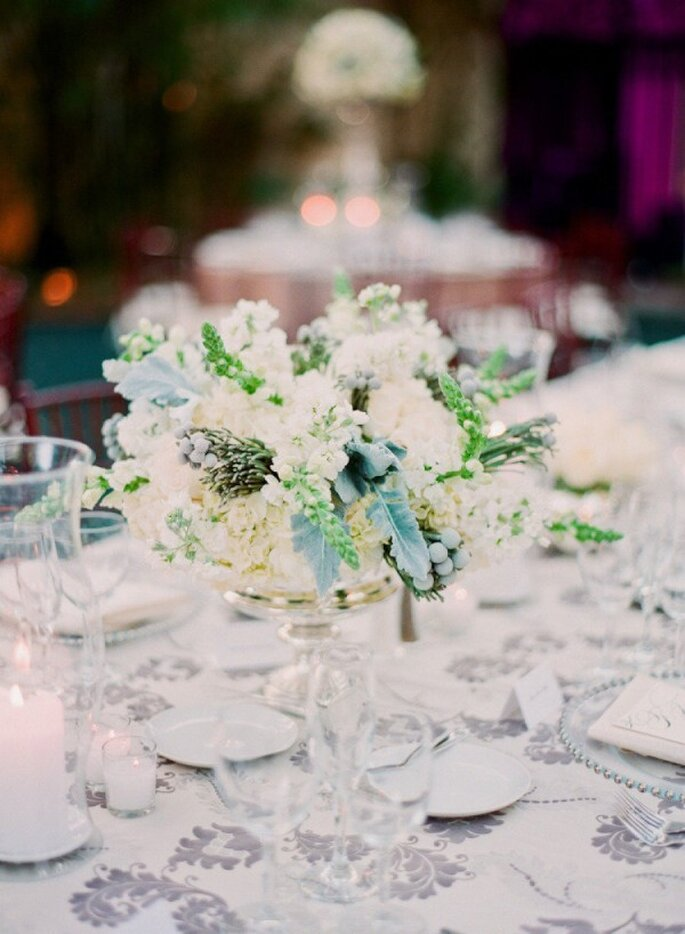 El uso perfecto de los colores en tus centros de mesa - Foto Michelle March