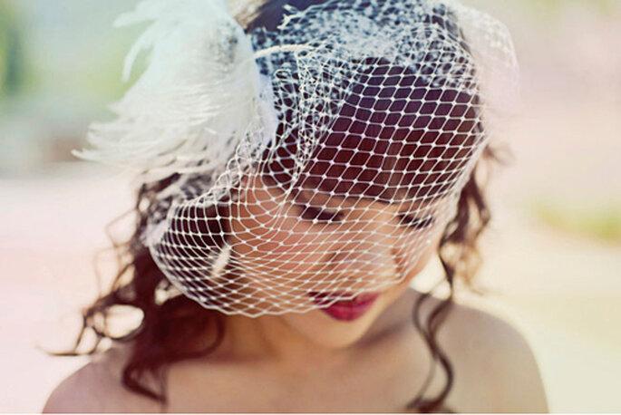 Haarnetz für die Braut - Foto: Heidi of Our Labor of Love