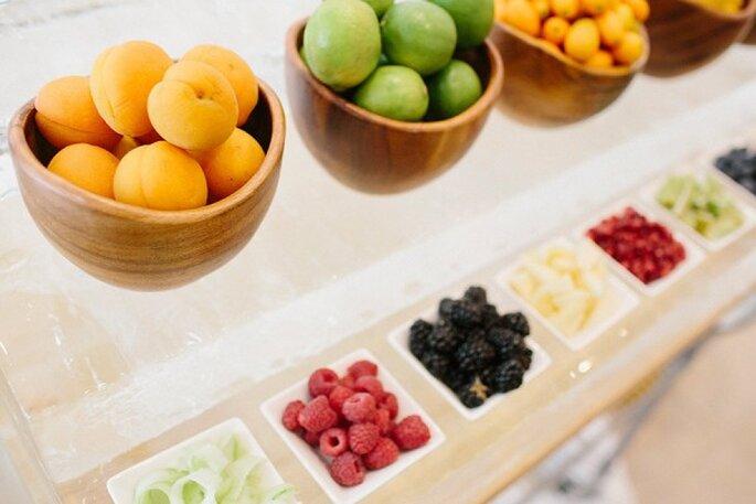 Una novia saludable come frutas y verduras - Foto Millie Holloman Photography