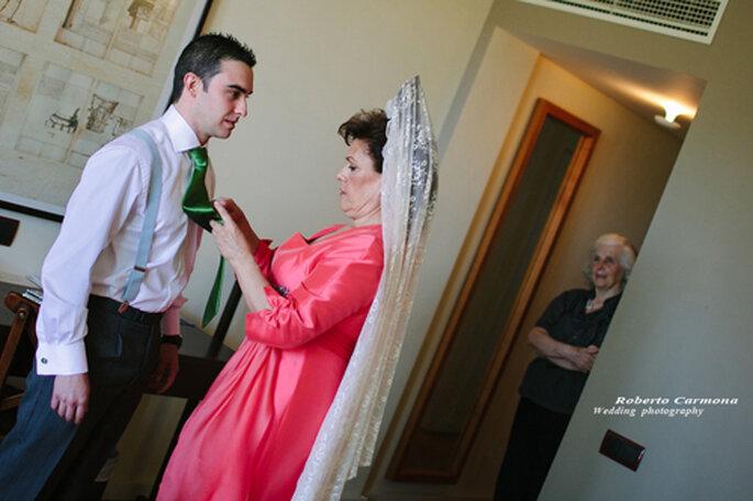 mantilla en bodas
