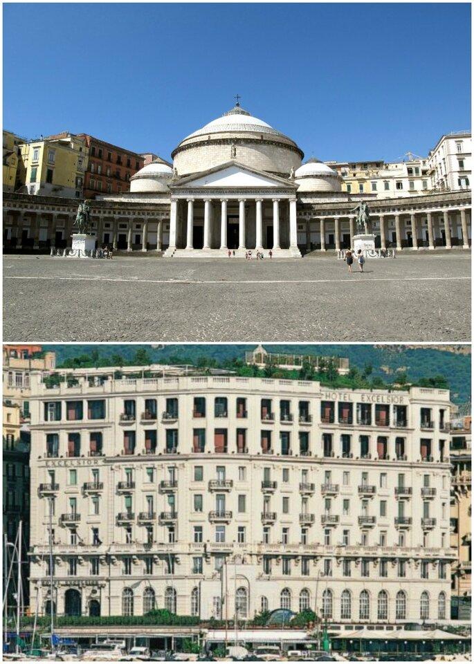 Basilica Reale di San Francesco di Paola e Hotel Excelsior Napoli
