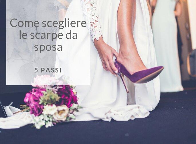 sezione speciale volume grande ottenere a buon mercato Come scegliere le scarpe da sposa in 5 semplici passi