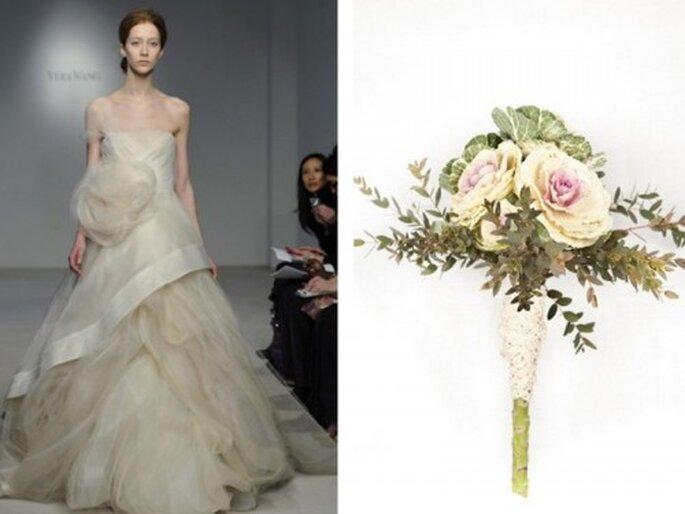 Un ramo de flores para cada tipo de novia - Fotos: Vera Wang y Verderón