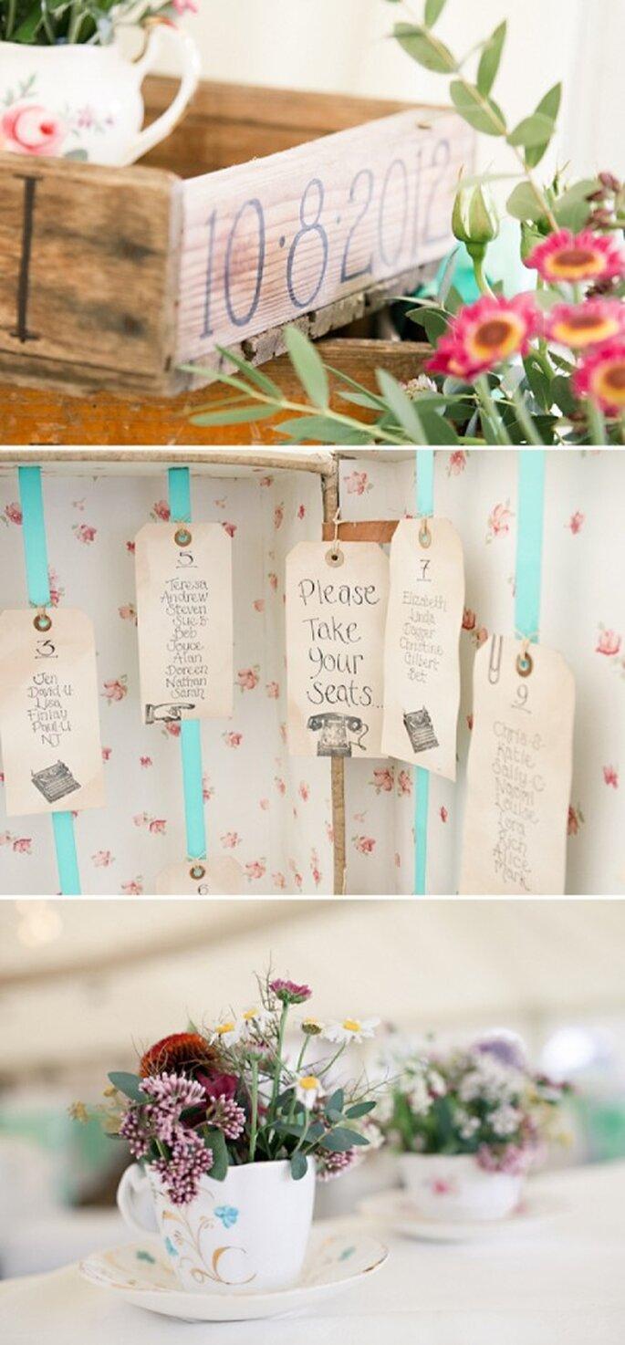 Elige lindos detalles para la decoración de tu boda en color menta - Foto HBA Photography