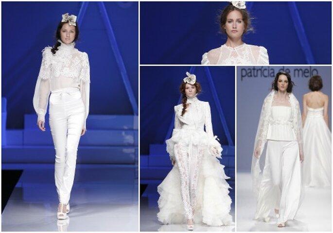 Un pantalon de mariée, y avez-vous pensé ? Photo : Barcelona Bridal Week