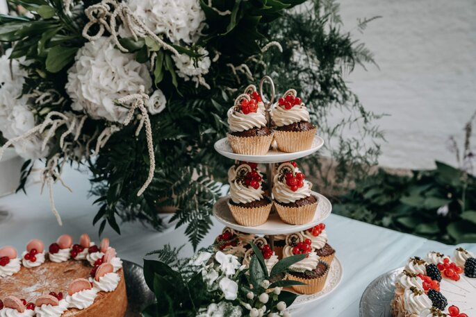 Cupcakes Sweet Table Hochzeit