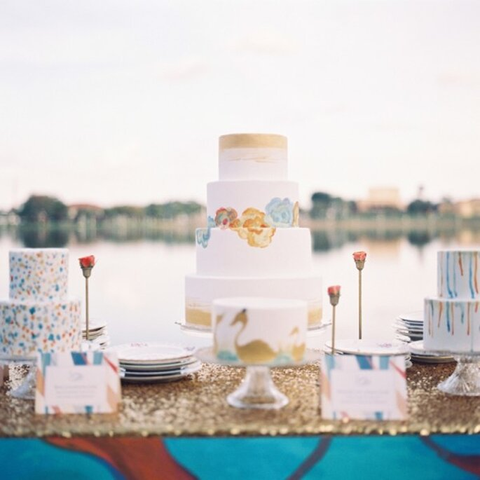 A watercolour inspired wedding - Photo: Kat Braman
