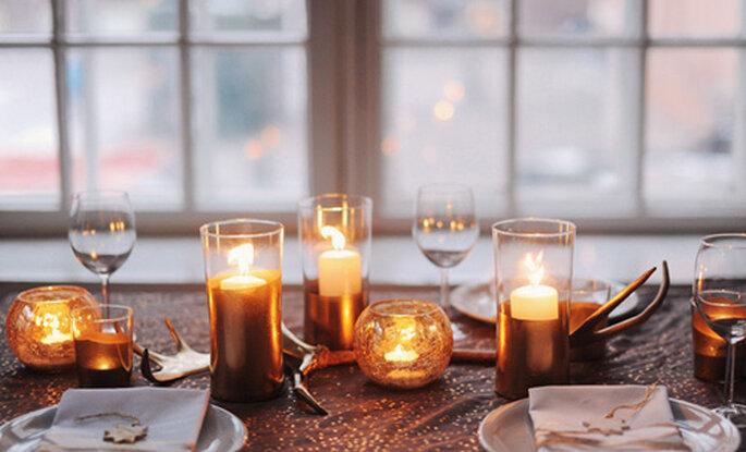 Inspiración en oro para boda. Foto de HeyLook.