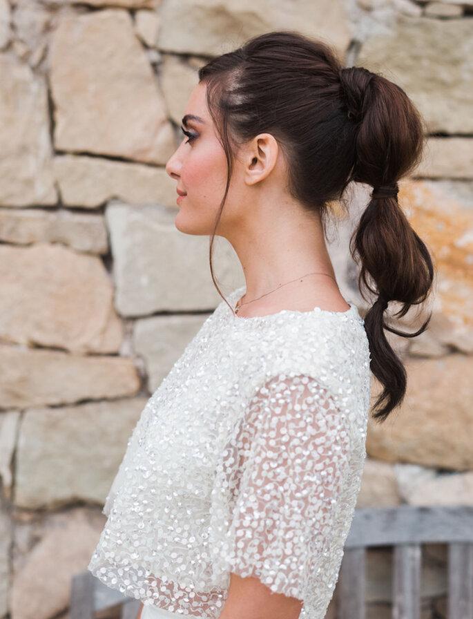 Peinados de novia cola de caballo