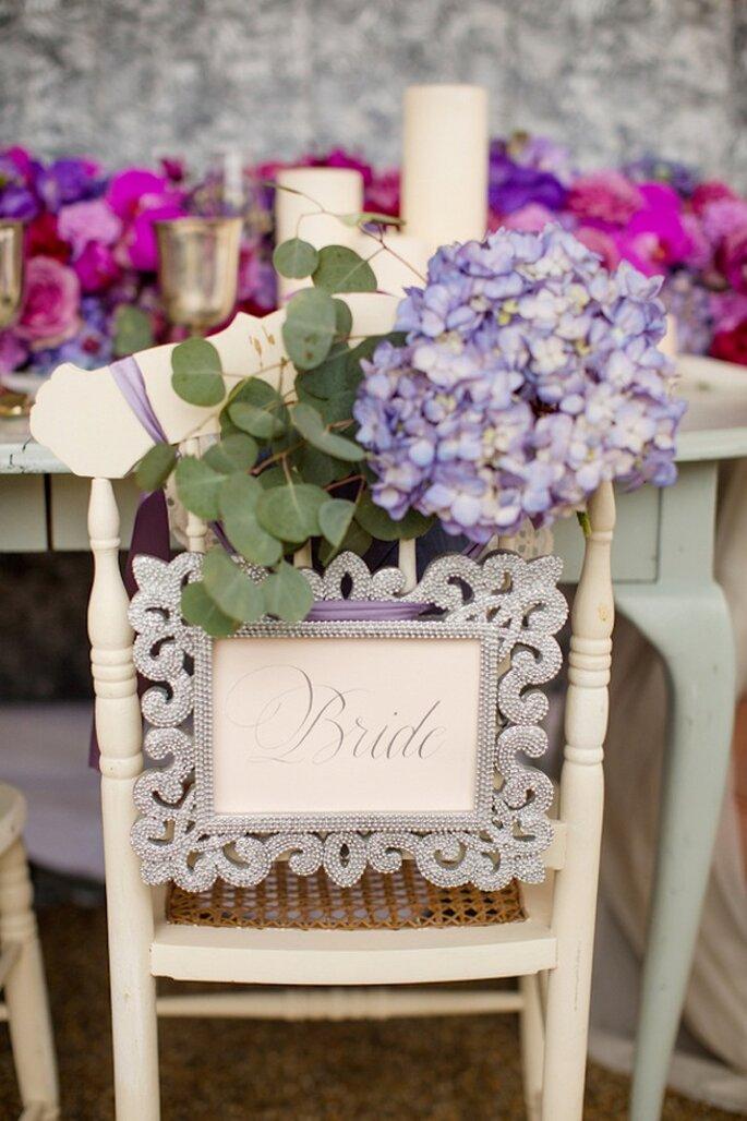 Así lucirá tu boda con una decoración en Radiant Orchid - Foto Katelyn James