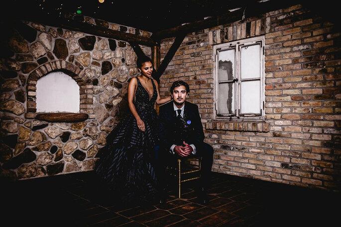 Hochzeit im Moody Glamour Style