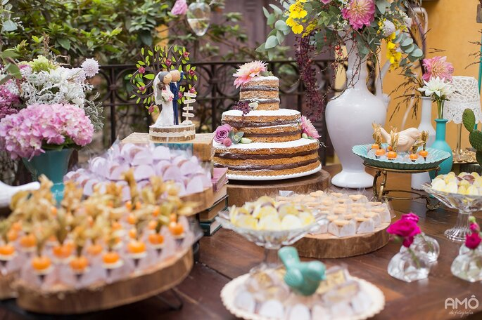 Noivos só devem se preocupar com bolo e doces