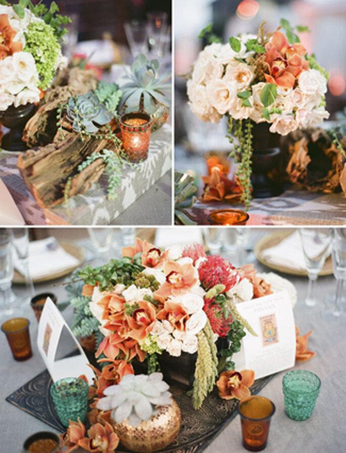 Auch im Freien wird mit vielen Blumen dekoriert – Foto: Green wedding shoes