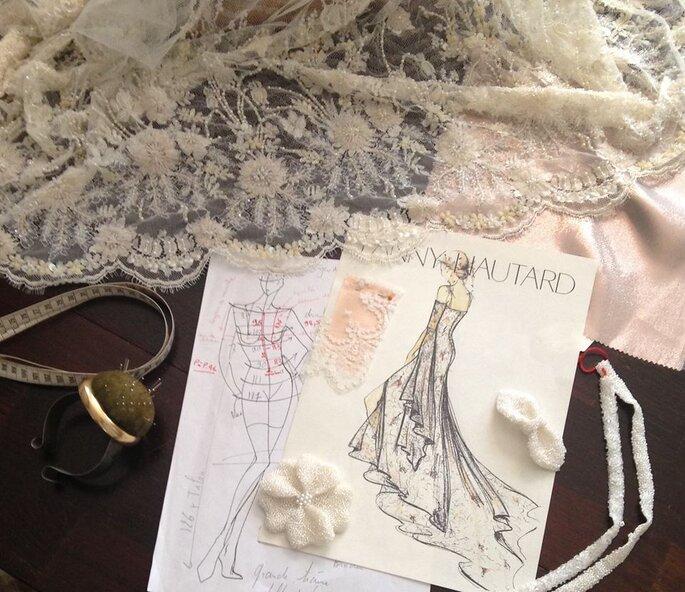 La créatrice de robes de mariée Fanny Liautard sera présente sur le salon.