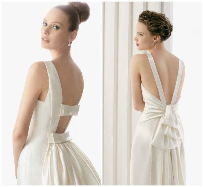 Vestidos de novia con las espalda al aire. Foto: Rosa Clará